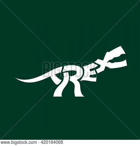 T-rex Symbol Word Mark Style Vector For Commercial Use Such As Logo T-shirt Graphic Or Any Other Pur