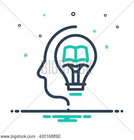 Mix Icon For Knowledge Knowing Wit Intelligence Intellect Sense Gyaan