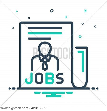 Mix Icon For Jobs Task  Office Careers Work People Vacancy