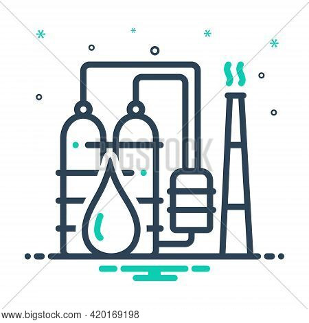 Mix Icon For Petrochemical  Refinery  Industry Oil-plant Drop Petro Manufacturing