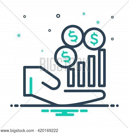 Mix Icon For Revenue Income Revenues Finances Increase Salary