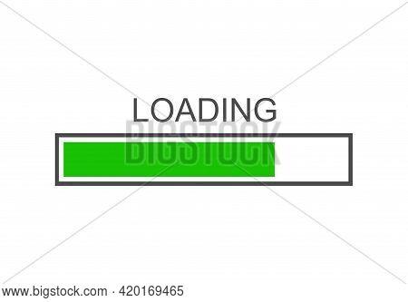 Loading Bar Icon, Progress Loading Icon Vector Illustration