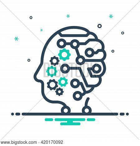 Mix Icon For Mind Headpiece Nous Wit Sense Intellect