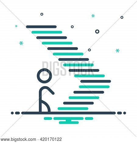 Mix Icon For Step Climb Footstep Walk Iterance Ladder