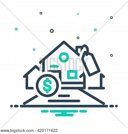 Mix Icon For Affordability Affordable Mortgage Expensive Cash