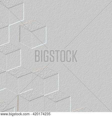 Gray cubic patterned background wallpaper
