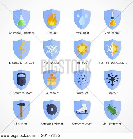 Protection Proof Flat Emblems With  Waterproof Soundproof Sunproof Fireproof Signs And Commentaries