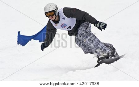 Kiev, Ukraine - February 10: Ward Snow Day.junior Championships In Downhill. ; February 10, 2012 In