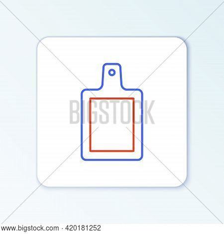 Line Cutting Board Icon Isolated On White Background. Chopping Board Symbol. Colorful Outline Concep