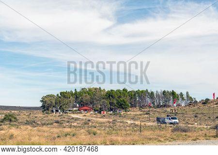 Hanover, South Africa - April 2, 2021: The Karoo Farm Stall Near Hanover In The Northern Cape Karoo.