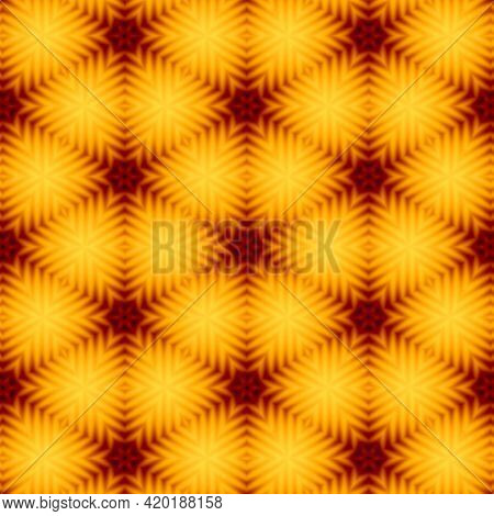 Abstract Kaleidoscope Multicolored Background. Bright Flower. Illustration Seamless Pattern For Desi