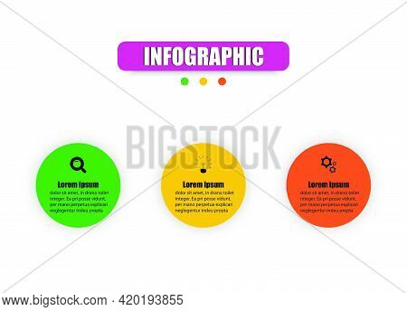 Circle Infographics Visualization Design Illustration 3 Elements. Planning Presentation Business Inf