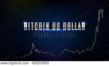 Abstract Background Of Bitcoin Us Dollar Btc Trading Cryptocurrency Market With Indicator Technical