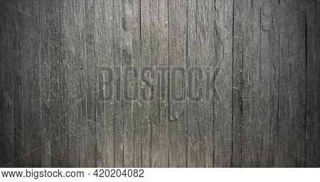 Grey Color Random Pattern Stone Block On Concrete Wall Abstract Background