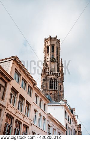 Traditional Cathedral building in Bruges, Belgium