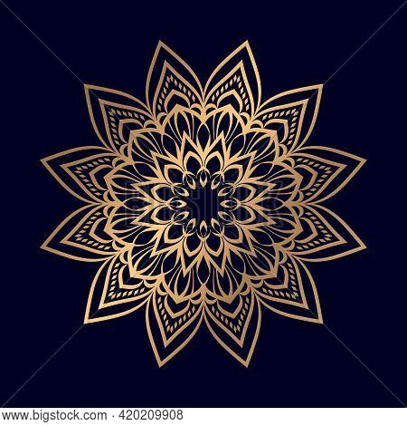 Mandala Ornament In Ethnic Oriental Style. For Coloring Book Page T-shirts Mandala Vector Color Illu