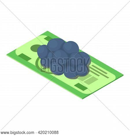 Financial Risk Icon. Isometric Illustration Of Financial Risk Vector Icon For Web