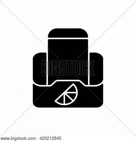 Branded Smartphone Stands Black Glyph Icon. Mobile Accessories Created For People To Look Stylish An