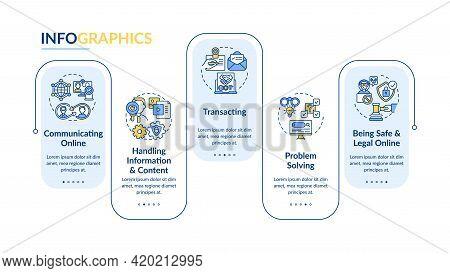 Learning Digital Skills Vector Infographic Template. Digitalization Presentation Design Elements. Da