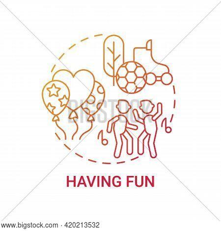 Having Fun Concept Icon. Basic Corporate Core Value Idea Thin Line Illustration. Employee Engagement