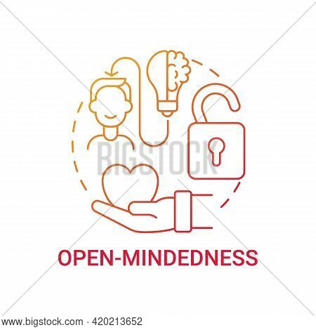 Open-mindedness Concept Icon. Personal Value Idea Thin Line Illustration. Open-minded Person. Curios
