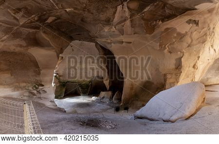 Bell Cave Dug At The Beginning Of The 7th Century, Used For Quarrying Stone In Maresha, In Beit Guvr