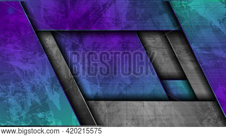 Material grunge stripes abstract tech background