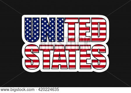 United States Sticker Vector Illustration. Collection Of Badge Patch Stickers With Democratic Civil