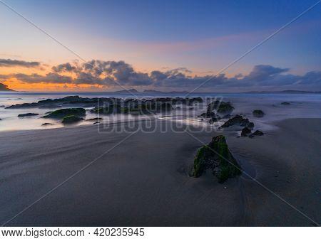 Sunset On A Background A Sea, Vigo