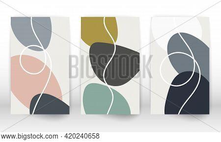 Set Of Geometric Shapes. Hand Drawn Watercolor Effect Design Elements. Modern Art Print. Contemporar