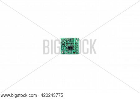 Close-up Of A Small Electronic Printed Circuit Board.