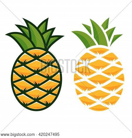 Pineapple Icon. Two Types Of Pineapple For Your Design.