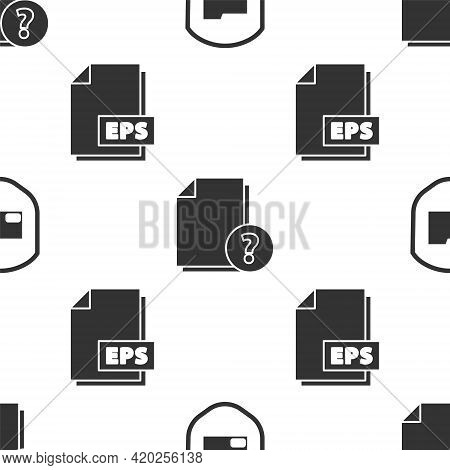 Set Document Folder Protection, Unknown Document And Eps File Document On Seamless Pattern. Vector