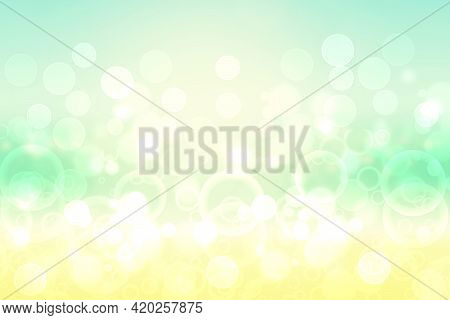 Hello Spring Background. Abstract Delicate Bright Spring Or Summer Landscape Texture With Natural Gr