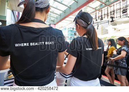 KUALA LUMPUR, MALAYSIA - JANUARY 18, 2020: Sephora grand opening day ambassadors at Fahrenheit 88 shopping mall in Kuala Lumpur.