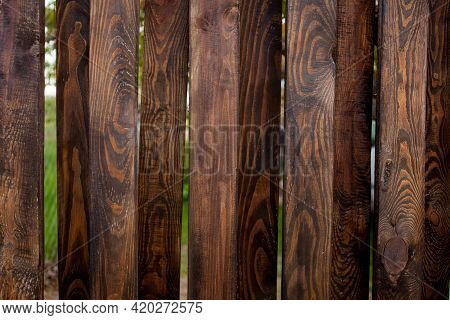 Wooden Fence.old Rustic Brown Wooden Board Texture.background Of A Wooden Pine Board.the Texture Of