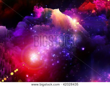 Fundo de pintura do fractal