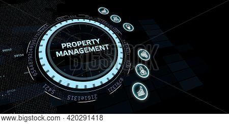 Property Management Inscription, New Business Concept Business, Technology, Internet And Network Con