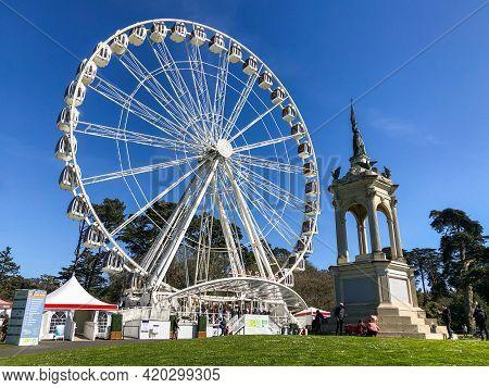 San Francisco - March 6: The Sky Star Ferris Wheel In Golden Gate Park, San Francisco. Taken On Marc