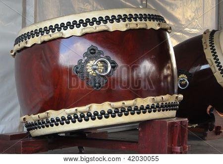 Japanese Taiko drum on stand