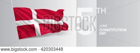 Denmark Happy Constitution Day Greeting Card, Banner Vector Illustration
