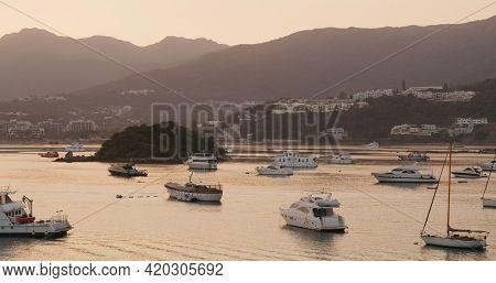 Sai Kung seaside at sunset