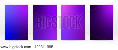 Minimal Poster. Pastel Soft. Violet Gradient Set. Graphic Color Background. Blurred Mesh Texture. Ve