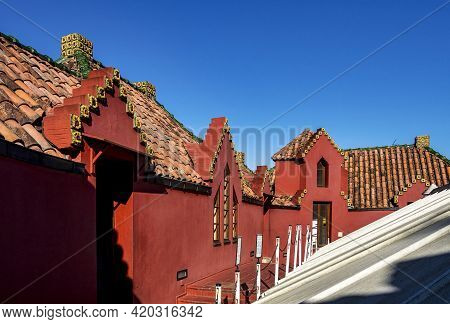 Comillas, Spain - Sep 08, 2020: El Capricho De Gaudi, Located In Comillas, Cantabria, Spain, Is One