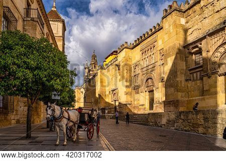 Cordoba, Spain - October 31, 2019: View Of Mosque-cathedral Of Cordoba, Mezquita-catedral De Cordoba