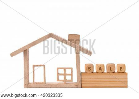 Wood Model House And Text On Wooden