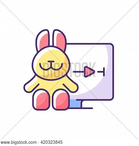Cartoons Streaming Rgb Color Icon. Family-friendly Shows. Entertainment Content For Toddlers. Animat