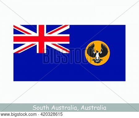 South Australia Flag. Flag Of Sa, Au. Australian State Banner. Eps Vector Illustration