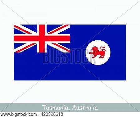 Tasmania Australia Flag. Flag Of Tas, Au. Tassie Australian State Banner. Eps Vector Illustration Fi