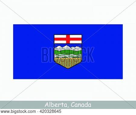 Alberta Canada Flag. Canadian Province Banner. Flag Of Ab, Ca. Eps Vector Illustration.
